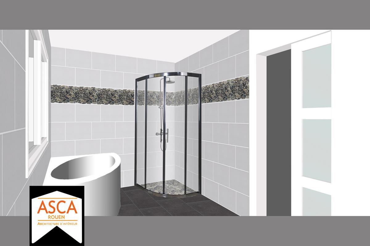 Quelle Hauteur Carrelage Salle De Bain faence mur gris galet n3 loft l20 x l502 cm leroy merlin